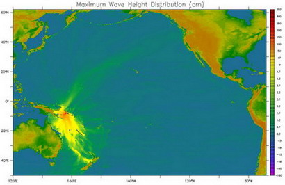 tsunami propagation through the Hawaiian Islands