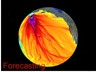 Image of energy plot on globe - Forecasting