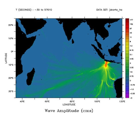 image of wave amplitude for tsunami July 17, 2006