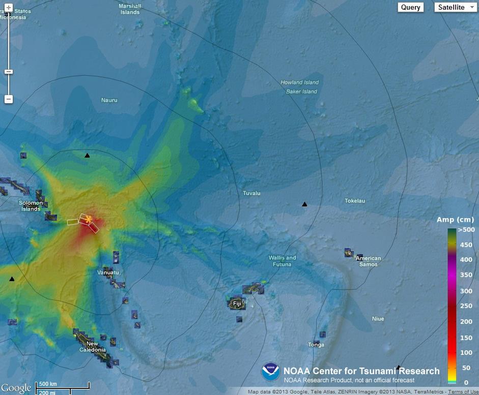 Solomon Islands Elevation Data